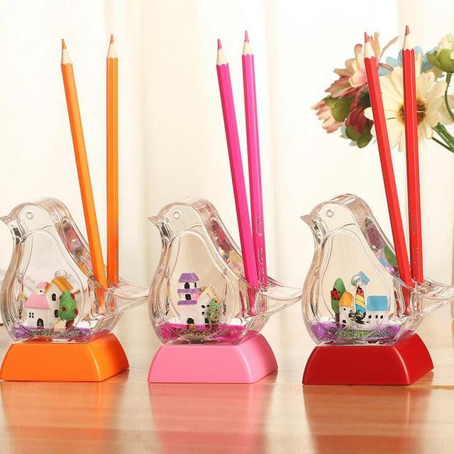 creatieve duiven kleur veranderende verlichting middellandse potloden desktop decoraties decoratie kinderen geschenken