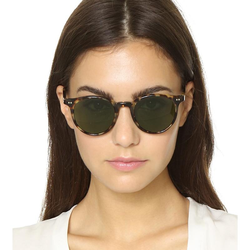 5f02976aa3a Fashion Round Glasses Oliver Peoples Delray Sun Glasses Vintage Male Female  OV5318 Oval Sunglasses Brand Designer ...
