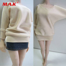 1:6 Scale Female Long Sleeve Bat Shirt&Jeans Pant Clothes Set For 12 Female PH Doll Action Figure Body Accessories 1 6 scale female white shirt custom made version women s waist shirt for large bust ph body female action figure