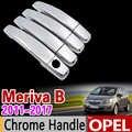 Für Opel Meriva B 2011-2017 Chrome Tuergriffabdeckung Trim Set Vauxhall 2012 2013 2014 2015 2016 Autozubehör Aufkleber Auto Styling