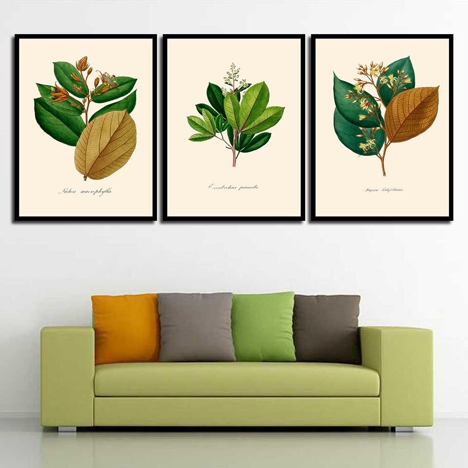 Canvas HD Paintings Quotes Wall Nordic Art Print Posters Green Plant Modern Pictures For Office Living Room Home Decoration