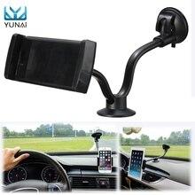 YUNAI 360 Degree 135-185mm Adjustable Universal Car Windshield Phone Tablet Mount Holder Stand For IPad 7-9 incn Tablet Holder