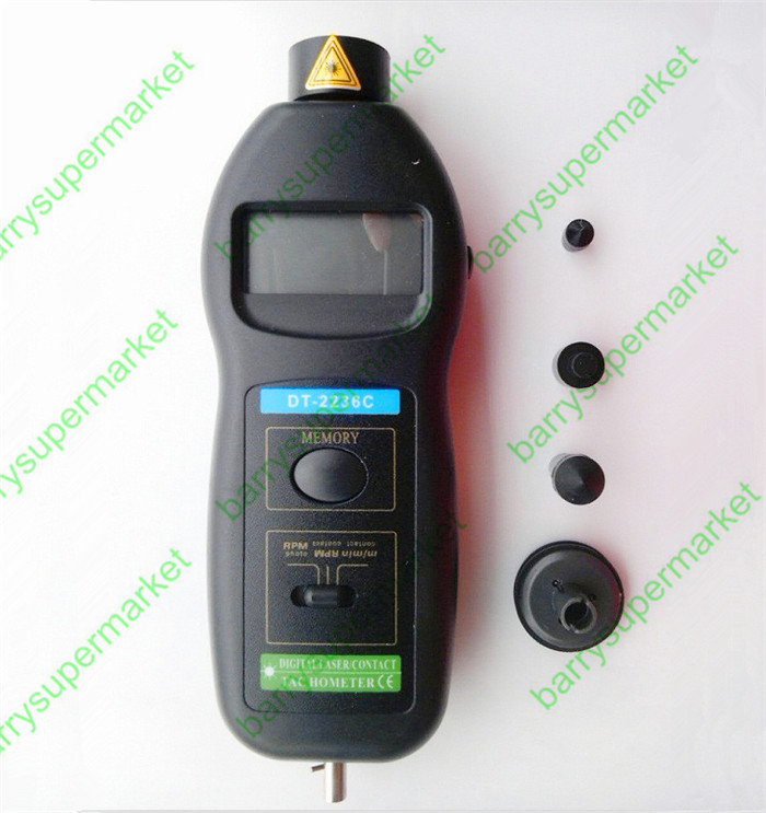 DT2236C Speed Detector Meter Laser Tachometer DT 2236C LED Digital Optical Contact Tachometer Detector Meter 030019