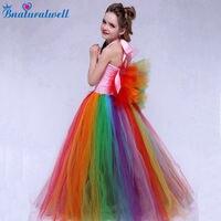 Bnaturalwell Children Girl Rainbow Tutu Dress Princess Tutu Dresses Flower Girls Dress Up Fancy Tutus Halloween