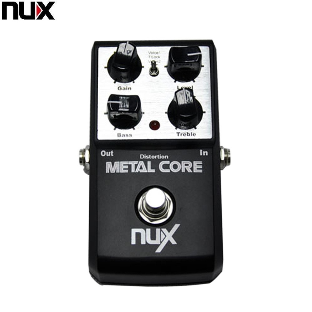 NUX Metal Core Metal Core Deluxe Distortion Effect Pedal 2 Band EQ Tone Lock Preset Function
