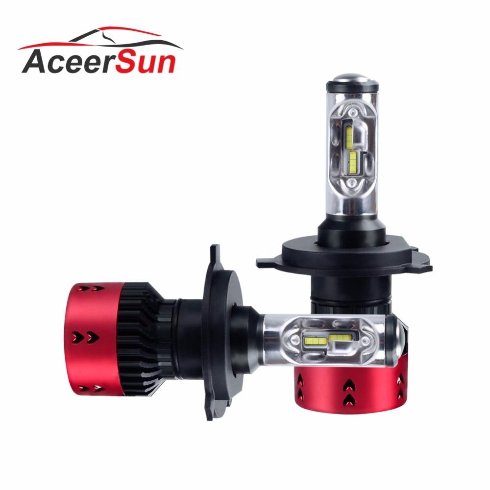Auto Lampadina Del Faro H7 LED H4 LED H1 H3 H8 H11 HB4 HB3 9006 9005 MINI 12 v 24 v lampadina Auto ZES Chip 16000LM Lampada 6500 k Luce