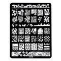 14.5*9.5 см Штамповка Nail Art Плиты Изображения Дизайн Прямоугольник XL Трафарет металл кружева цветочные узоры маникюр шаблон трафарет HK06