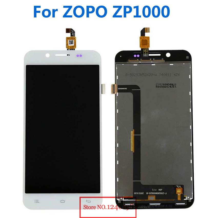 TOP Quality New LCD Display Touch Screen Glass Digitizer Assembly For ZOPO ZP1000 Smartphone Parts