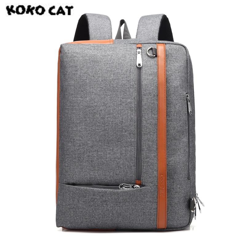 KOKOCAT Multifunction 15.6 inch Notebook Laptop Handbag Computer Backsack for Men Women Briefcase Messenger Solid Bags 5506 цена 2017