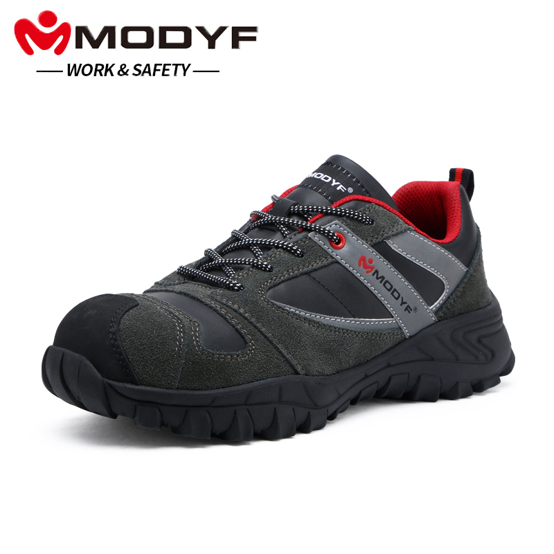 LARNMERN Men's Outdoor Safety Shoes Boots Steel Toe Cap Anti-smashing Working Footwear Breathable Mesh Protective Sneaker