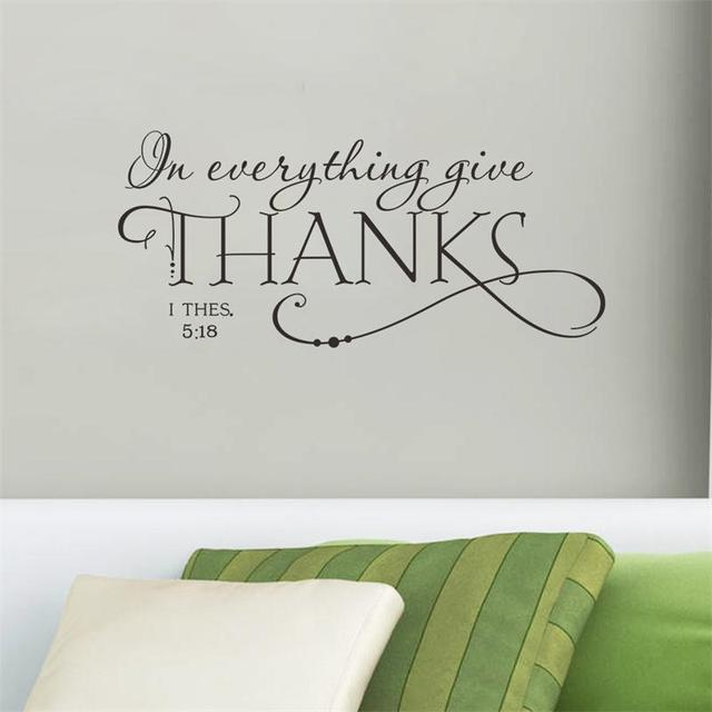 Perfect Special Characters GIVE THANKS Home Decal Wall Sticker /removable Wedding  Decoration Living Room Decor/