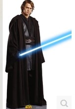 Gratis frakt Star Wars Anakin Skywalker Cosplay Costume Black Version
