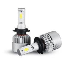 Oslamp H7 COB LED Auto Car Kit Bombilla Del Faro 72 W 8000lm Luz delantera H7 Luz de Niebla Bombillas 6500 K 12 V 24 V Led Automotriz faro