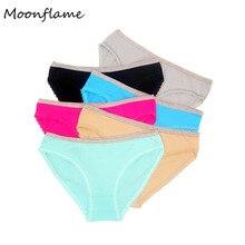 Moonflme 5 pcs/lot Hot Sale Lingerie Women Cotton Sexy Briefs Panties M9250