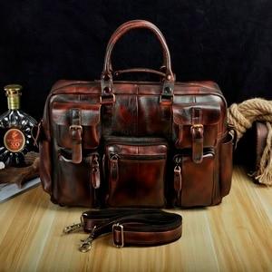 Image 3 - Original leather Men Fashion Handbag Business Briefcase Commercia Document Laptop Case Design Male Attache Portfolio Bag 3061 bu