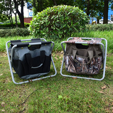 1pcs Two-user Multi-function Portable Folding Storage Bag Fishing Stool Folding Chair Free Shipping