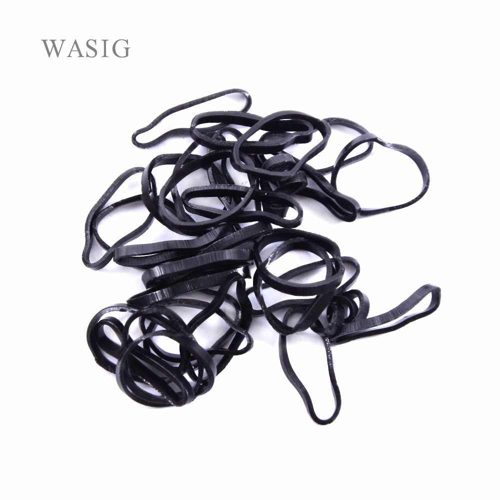 New 250/set Hair Accessories Disposable Big Bags Elastic Hair Rubber Bands - Black Color Children's Hairband