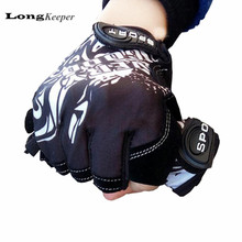 Fashion Sport gloves Cycling Half-finger mittens fingerless men women glove Exercise half finger luva fitness male guantes G1 недорого