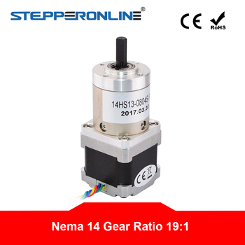 19:1 Planetary Gearbox Nema 14 Stepper Motor 0.8A for DIY CNC Robot 3D Printer image