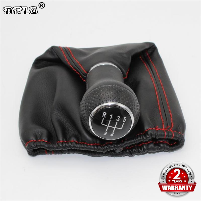 For Volkswagen VW POLO CLASSIC 6N 6N2 1996 1997 1998 1999 2000 2001 LUPO CADDY 5 Speed Car Gear Lever Shift Knob Leather Boot for volkswagen bora bora golf 4 lever gear shift lever boot leather shift