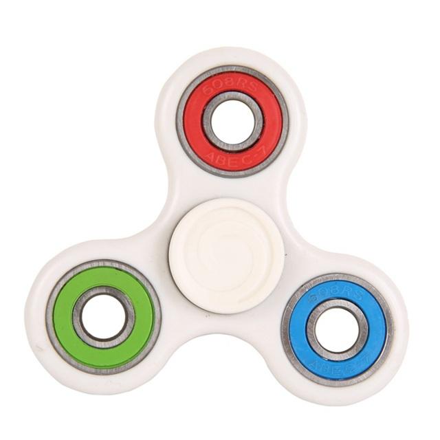 White/Black Hand Spinner Fidget Toy Plastic