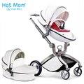 Eco-couro Hotmom carrinho de bebê 2 em 1 peso leve quatro amortecedores Rússia frete grátis