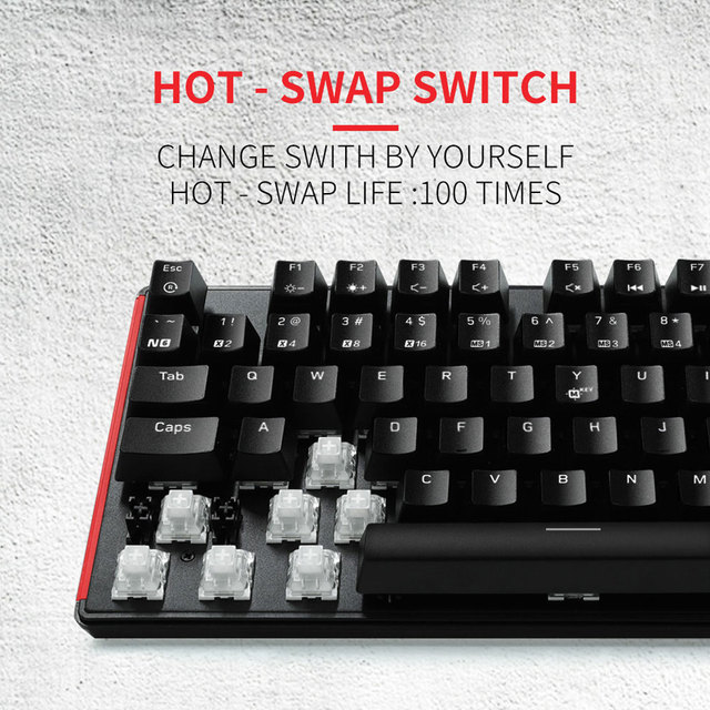 HEXGEARS GK705 Kailh BOX Switch 104 Keys Gaming Mechanical Keyboard Hot Swap Switch Anti-Ghosting LOL Keyboard 3