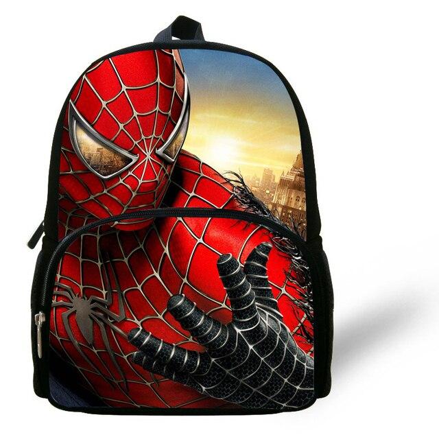3dff0278a65e 12 дюймов 2014 дети мешок Обувь для мальчиков Человек-паук рюкзак детский  сад Книга Сумка