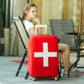 Italy/Switzerland/Canada Flag Covers for Trolley Suitcase Elastic Luggage Protective Cover Travel Case Dustproof