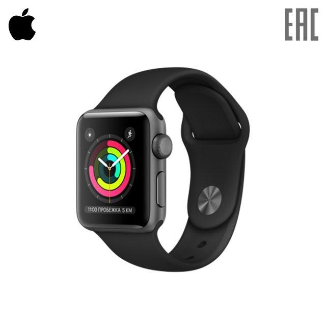 Смарт-часы Apple Watch Series 3 GPS 38 мм Aluminium, спортивный ремешок