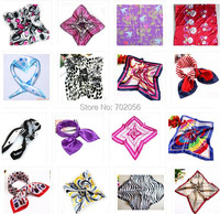 Square rayon silk polyster Neck scarf Scarves 50*50cm 100pcs/lot #3666