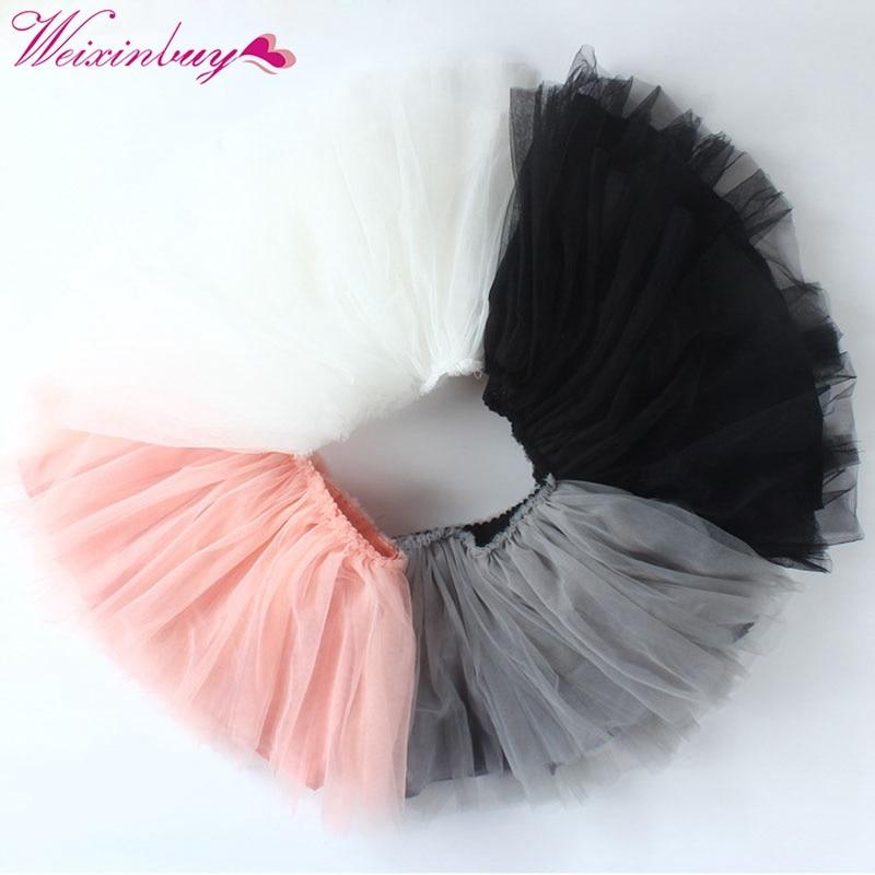 Baby Kids Girls 2018 Fancy Costume Skirt Dance Fluffy Pettiskirt Tutu Ballet Skirt 9-24M Kids Princess Skirts недорго, оригинальная цена