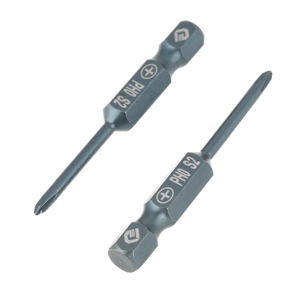 10pcs 1/4inch Screwdriver Bits Set Hex Shank Driver Bit PH0 50mm S2 Alloy Steel Cross Head Hand Tool tornavida seti