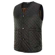 men's Down Vests Homme Winter Casual Coats Jackets Waistcoat Men Fashion Sleeveless Solid button Coat Overcoat Warm Vests