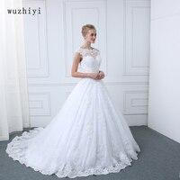 Wuzhiyi Vestido De Noiva Wedding Dress 2018 Ball Gown Lace Appliques Vestido De Casamento Robe Mariage