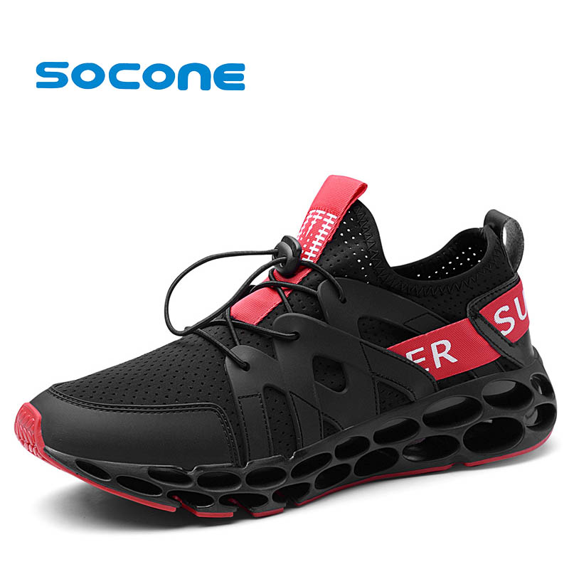 Socone 2018 New Arrival Men Running Shoes Adult Breathable Air Mesh Outdoor Waking Shoes Lightweight Athletic Sport SneakersSocone 2018 New Arrival Men Running Shoes Adult Breathable Air Mesh Outdoor Waking Shoes Lightweight Athletic Sport Sneakers