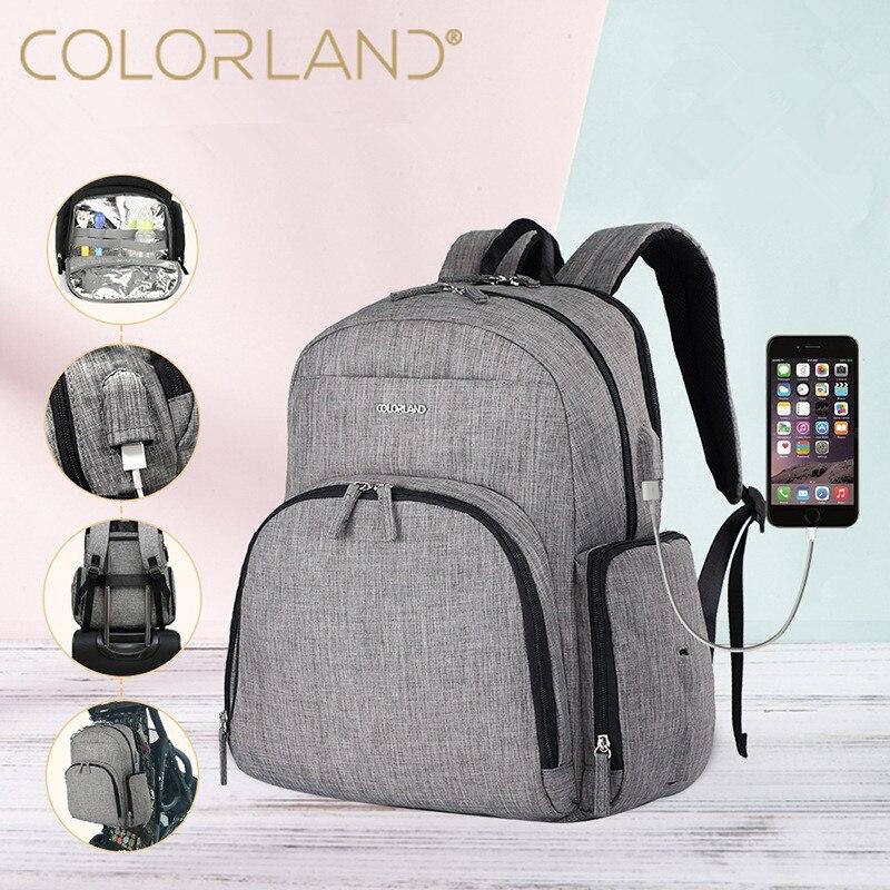 COLORLAND Mummy Maternity Diaper Bag Large Nursing Bag Travel Backpack Designer Stroller Baby Bag Baby Care