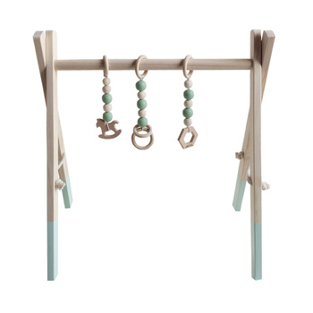 Baby Activity Playing Equipment Fitness Wooden Ring-pull Frame Multi-bracket Toddler Educational Toy HG99