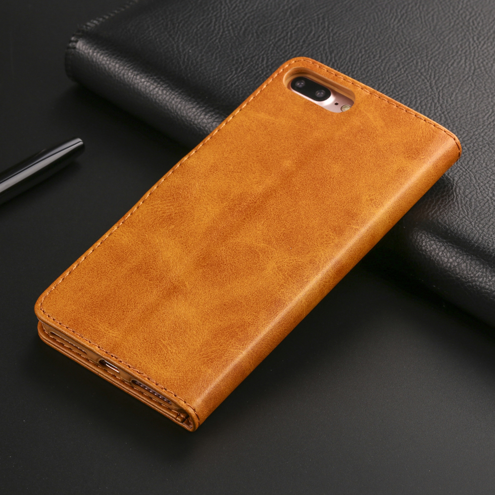 Image 3 - Luxury Leather Flip Case For iPhone 7 8 6 s 6s plus X XS Max XR 11 Pro Max Cover Card Holder Wallet Case For iPhone 5 5S SE-in Flip Cases from Cellphones & Telecommunications