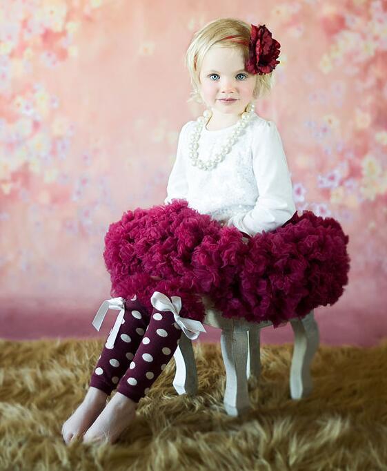 Юбка-пачка Обувь для девочек пушистый 18m-10years Пышная шифоновая юбка однотонные юбки-пачки юбка для танцев Рождественская фатиновая юбка