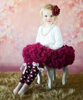 Pettiskirt tutu Girls Fluffy 18m-10Years Chiffon Pettiskirt Solid Colors tutu skirts girl Dance Skirt Christmas Tulle Petticoat
