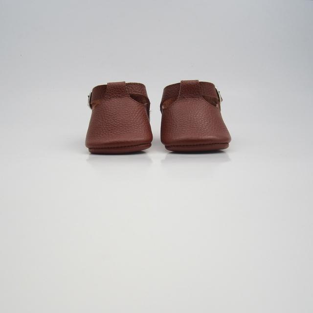 Handmade do bebê sapatos macios moccs marrom Criança para o presente Do Bebê