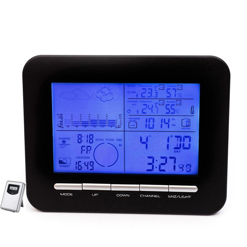 Tavolo digitale Doppio sveglia Barometro Stazione meteorologica con - Strumenti di misura - Fotografia 2