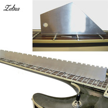 Zebra Fretboard Frets Steel Guitar Neck Notched Straight Edge Luthiers Tool For Electric Bass Guitar Parts Accessories