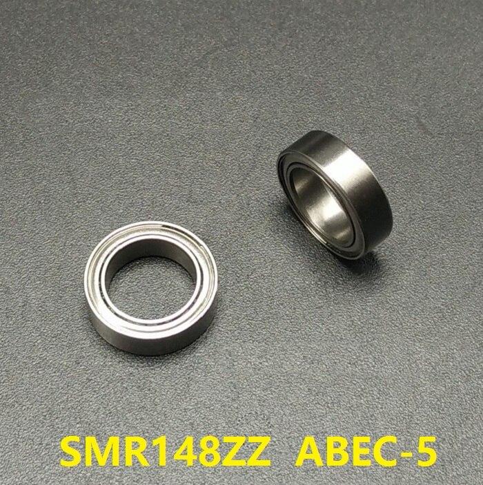 50pcs ABEC 5 SMR148ZZ SMR148 ZZ Stainless steel ball bearing Miniature 8x14x4 mm Shielded Deep Groove