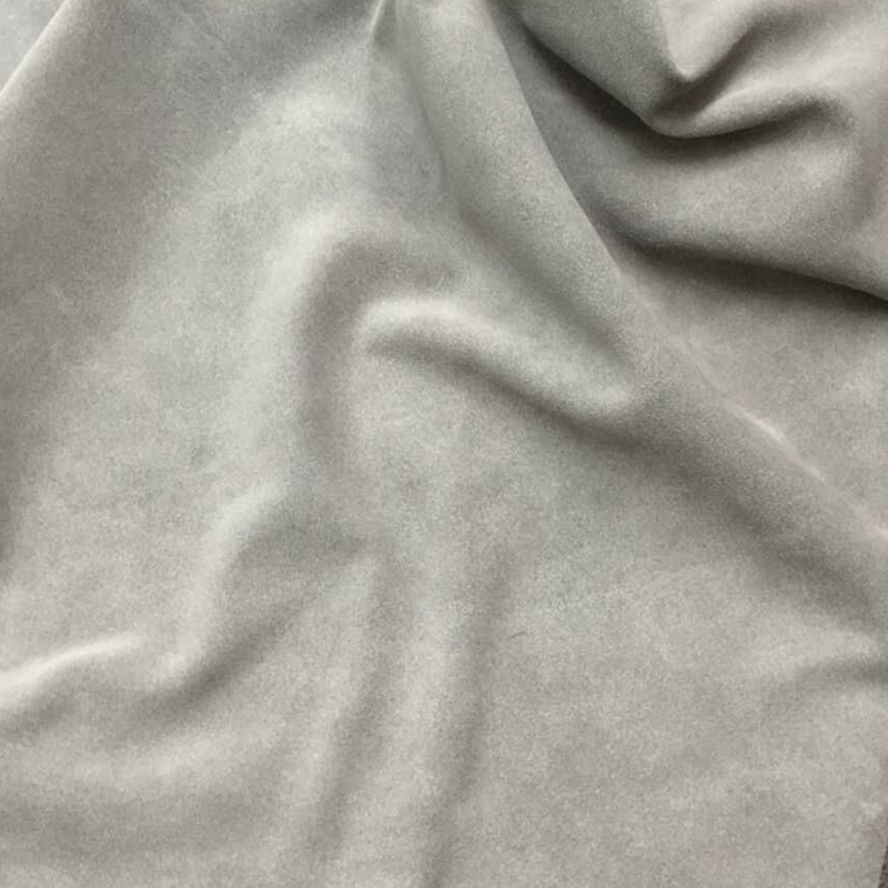 Grey Genuine Cow   suede     Leather   Fabric for Boots/DIY/Handbag,1.2-1.4mm,Free Shipping