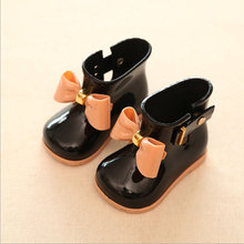 EUR 19-27 girls rain Boot mini sed Bow candy smell baby todder little adorable girls fashion boots non slip water shoes Sapato