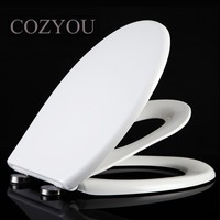 Double layer Toilet seat children and adults toilet lid Round shape Silent slow closure, width 35 38cm, length 40 48cm COZYOU