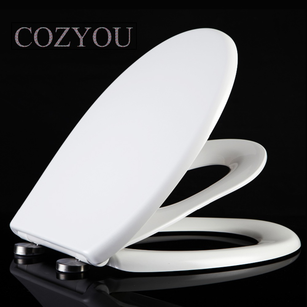White U & O style Slow-Close Toilet cover, children and adults Dual-use, PP and UF Resin material, width 35-38cm, length 40-48cm gbf17258sv urea formaldehyde material ultra thin high density toilet seat slow close v shaped installed above quick disassembly