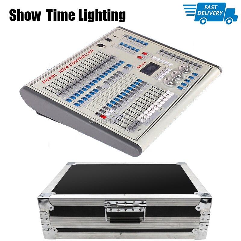 Puissant perle console 1024 contrôleur livraison gratuite avec flycase DMX 512 contrôle professionnel scène lumière LED orientable par